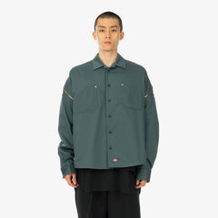 Facetasm 'x Dickies Zipper Shirt'