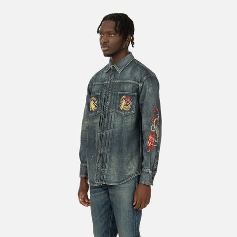 Neighborhood 'Savage Denim / C-Shirt LS' – Indigo