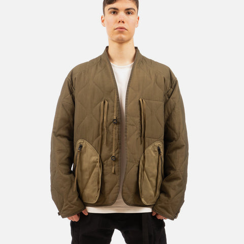Nilmance 'Quilted Padded Button Jacket PB-02' – Olive