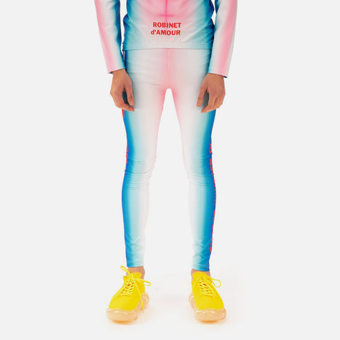Walter van Beirendonck 'Ghost Bike Leggings' – Blue / Red