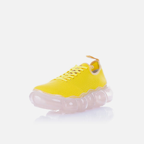 Walter van Beirendonk 'Box Blazer', 'Korova Shorts' and 'Cloud Sneakers' – Blazing Yellow