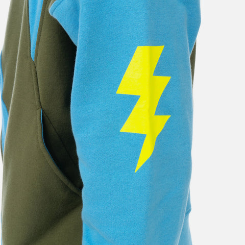 Walter van Beirendonk 'Wonder Zipped Hoodie Sweat' – Blue