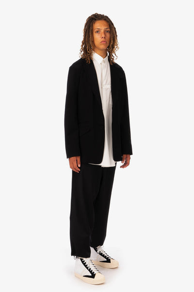 Adidas Y-3 'M Classic Sporty Ponti Blazer' and 'M Classic Terry Cropped Pants'