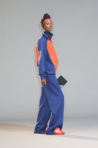 Adidas Originals by Lotta Volkova 'Podium Track Pant', 'Podium Top', 'Trefoil Mule' and '3-Fold Clutch'