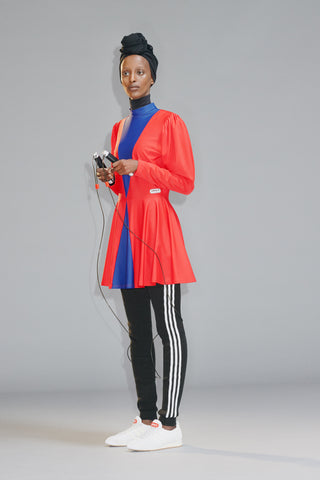 Adidas Originals by Lotta Volkova 'Ice Skate Dress' and 'Leg Warmers'