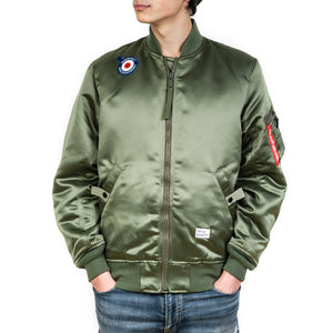 Bedwin & The Heartbreakers | 'Duffy' MA-1 Reversible Jacket Olive - Concrete