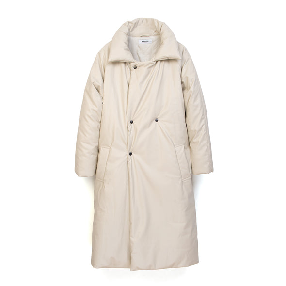 Marios Padded Coat White - Concrete