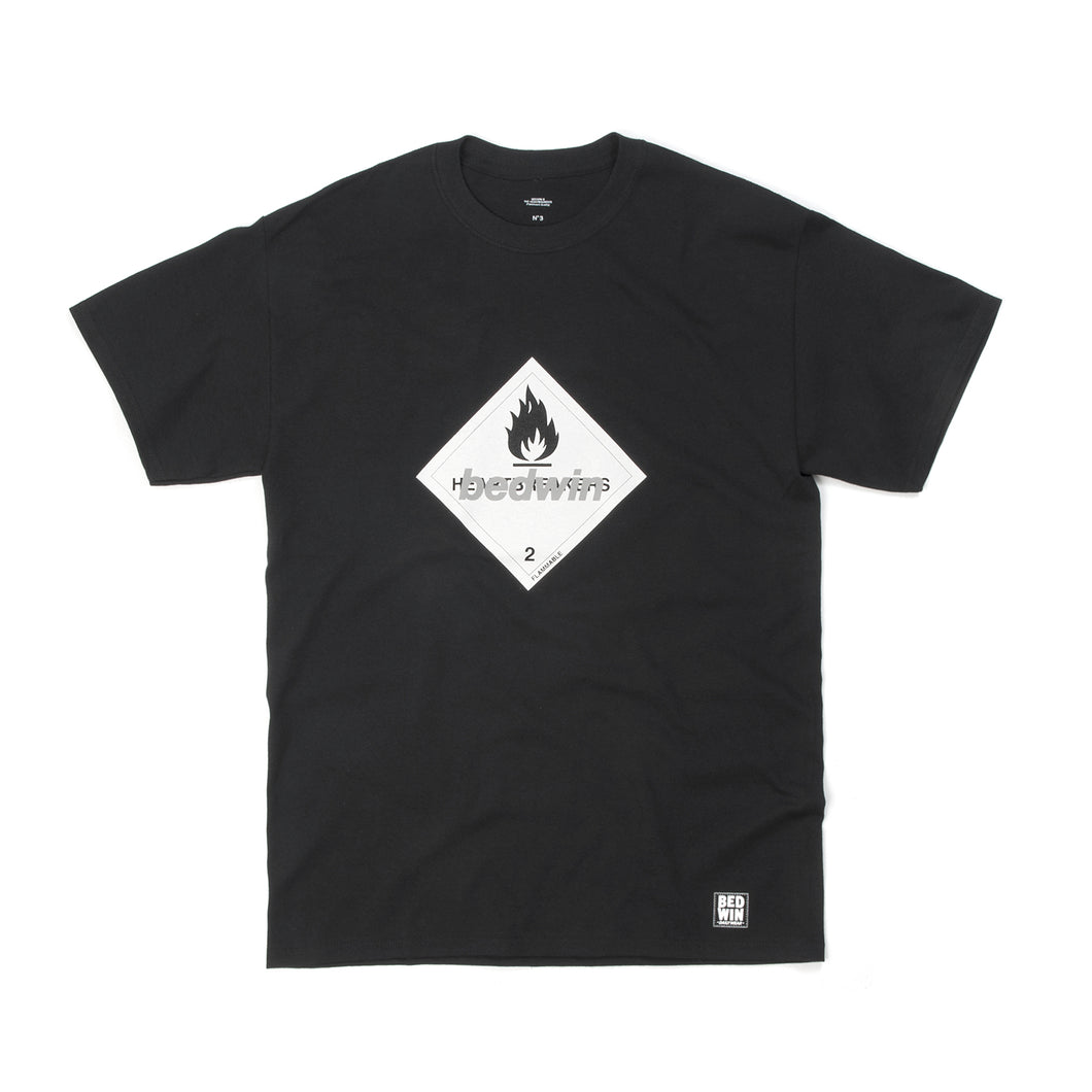 Bedwin & The Heartbreakers | 'Hooper' Print T-Shirt Black - Concrete