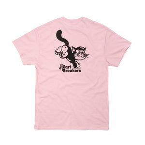 Bedwin & The Heartbreakers | 'Torp' Print T-Shirt Pink - Concrete