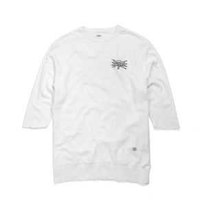Bedwin 'Bradbury' 7/S Crew Neck Sweat White