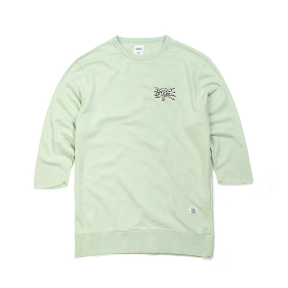 Bedwin & The Heartbreakers | 'Bradbury' 7/S Crew Neck Sweat Mint - Concrete