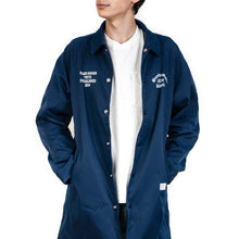 Load image into Gallery viewer, Bedwin 'Jill' Long Nylon Coaches Jacket Blue