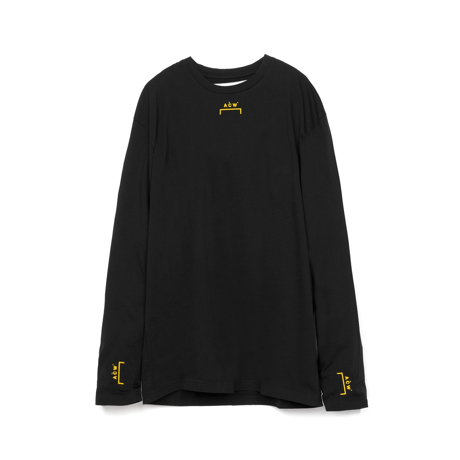 A-COLD-WALL* Bracket Logo L/S w. Back Print T-Shirt Black