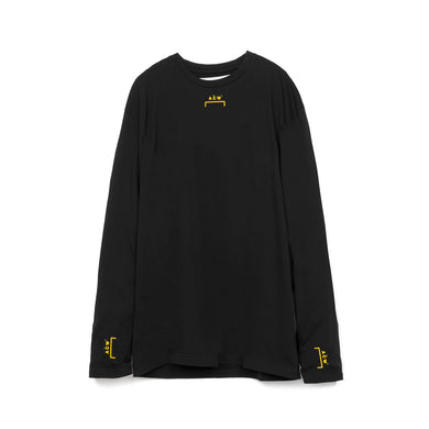 A-COLD-WALL* | Bracket Logo L/S w. Back Print T-Shirt Black - Concrete