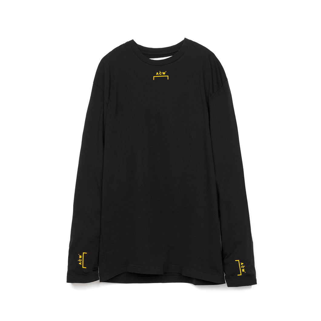 A-COLD-WALL* | Bracket Logo L/S w. Back Print T-Shirt Black