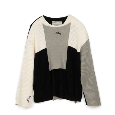 A-COLD-WALL* Multipanel Knit Sweater Black/Grey-Cream