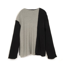 Load image into Gallery viewer, A-COLD-WALL* Multipanel Knit Sweater Black/Grey-Cream