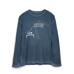 A-COLD-WALL* | National Gallery L/S T-Shirt Blue - Concrete