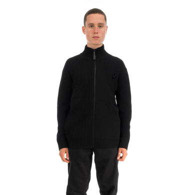 A-COLD-WALL* | Zipped Cashwool Jumper Black - Concrete