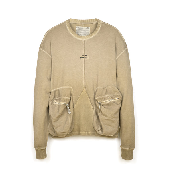 A-COLD-WALL* | Overlock Crewneck Taupe