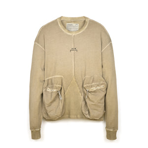 A-COLD-WALL* | Overlock Crewneck Taupe - Concrete