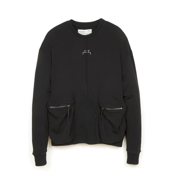 A-COLD-WALL* | Overlock Crewneck Black - Concrete
