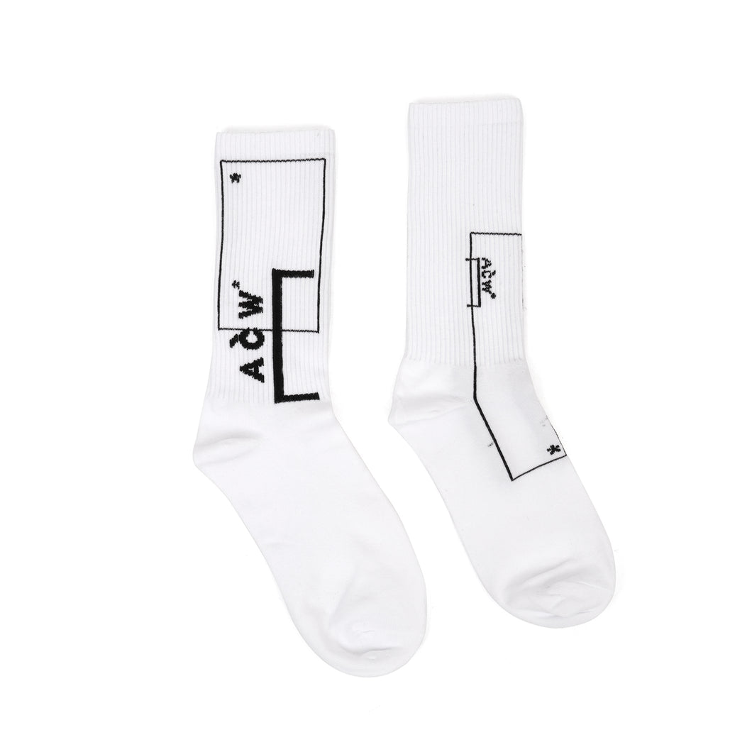 A-COLD-WALL* | Classic Logo Socks White