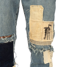 Afbeelding in Gallery-weergave laden, Val Kristopher | Multi Patched Denim Blue Sand - Concrete