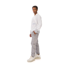 A-COLD-WALL* | Recut Polo Longsleeve Shirt White
