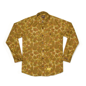 Acapulco Gold Outback Button Down Shirt Camo - Concrete
