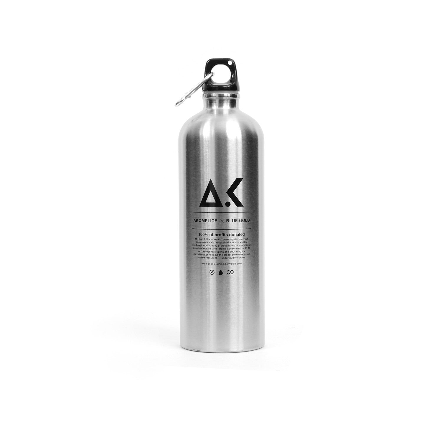 Akomplice Blue Gold x AK Water Bottle Silver - Concrete