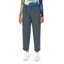 Afbeelding in Gallery-weergave laden, AMBUSH® | High Waist Relaxed Trousers Blue / Grey