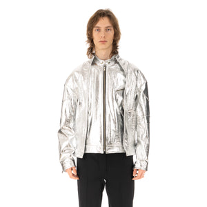 AMBUSH | Riders Jacket Silver - Concrete
