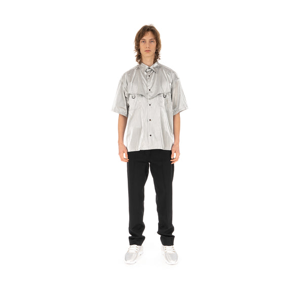 AMBUSH | Short Sleeve Shirt Silver - Concrete