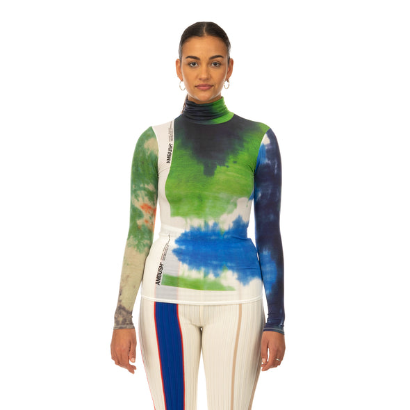AMBUSH® | Tie Dye Print Turtle Neck Multi