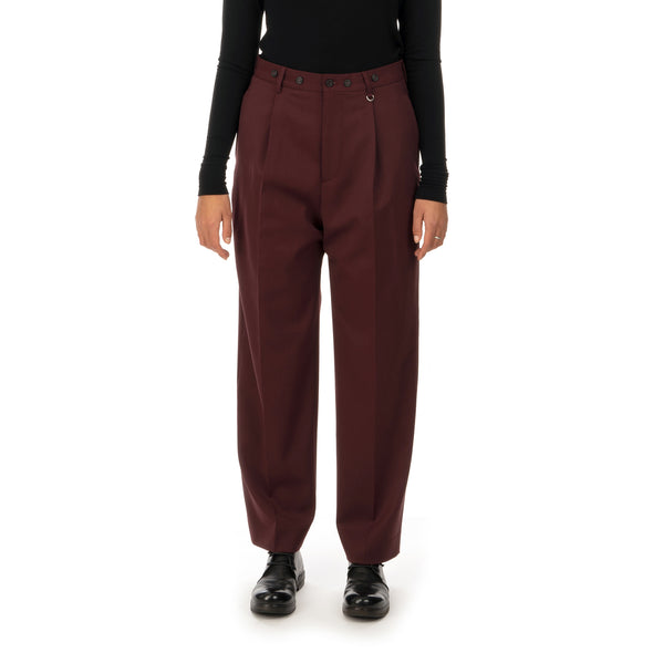 AMBUSH | W High Waist Relaxed Trousers Wine - Concrete