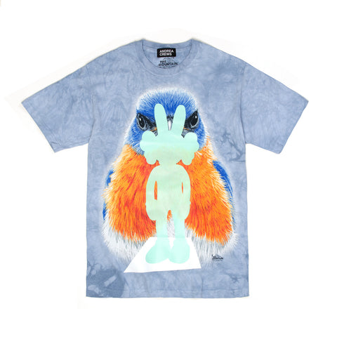 Andrea Crews 'Kaws' Light Blue Printed T-Shirt - Concrete