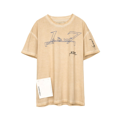 A-COLD-WALL* | Leavers T-Shirt Pale Tan - Concrete