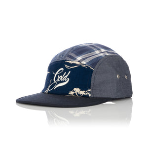 Acapulco Gold | Patchogue Multi-Panel Camp Cap Navy - Concrete