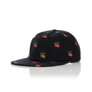 Acapulco Gold | Cherry 6-Panel Cap Black - Concrete