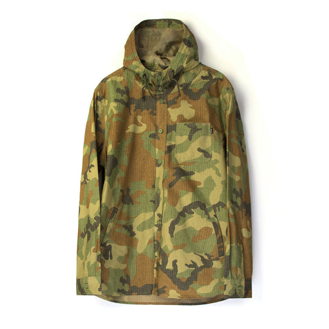 Acapulco Gold Hooded Field Shirt Ripstop Woodland