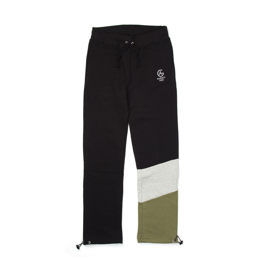 Acapulco Gold | Paneled Sweatpants Black