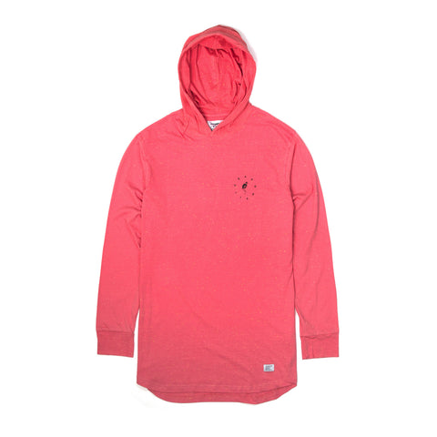 Akomplice Akman Light-Weight Surf Hoodie Pink Epple - Concrete