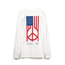 Load image into Gallery viewer, Akomplice | U.S. Peace L/S T-Shirt White - Concrete
