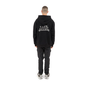 Akomplice | Unity Gang Embroidered Fleece Hoodie Black
