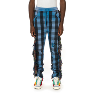 ALCHEMIST | I Wanna Be Sadated Joggers Blue / Black Check