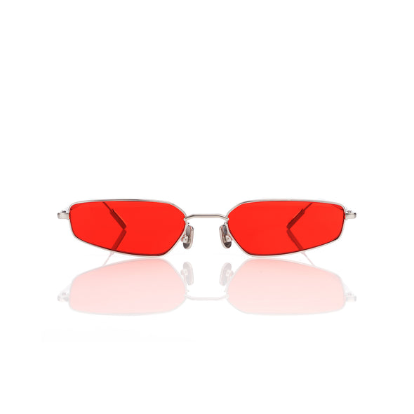AMBUSH® | Astra Sunglasses Silver / Red