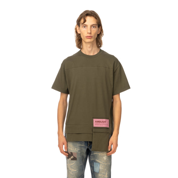AMBUSH | New Waist Pocket T-Shirt Dark Green - Concrete