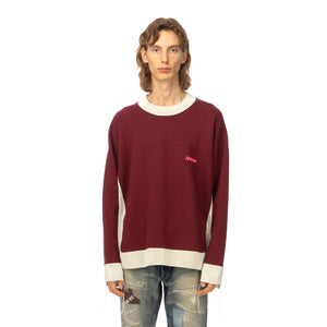 AMBUSH | Panel Sweatshirt Wine / Light Beige - Concrete
