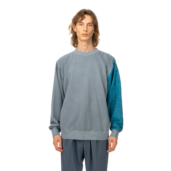 AMBUSH | Mix Quilted Sweatshirt Blue - Concrete